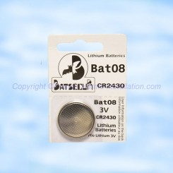 Pile CR2430 Batli08 compatible alarme Daitem Logisty Hager