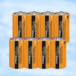 8 Piles Duracell pour centrales Adetec CW32