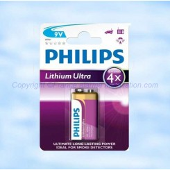 Pile Lithium Ultra Philips 9 Volts