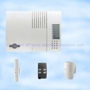 Alarme sans fil Daitem, gamme Espace, centrales de 15 à 40 détecteurs raccordable, 360-21X, 363-21F, 362-21F