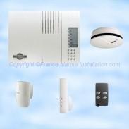 Ensemble et kits daitem de base à completer avec des détecteurs, sirènes, claviers de commande, transmetteurs ...